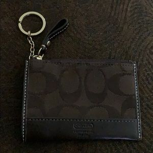 COACH Mini Skinny ID Case Wallet Key Chain